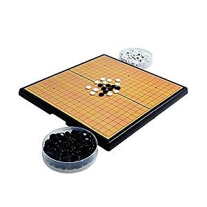 Dfghbn-YXWJ Go Game Set Magnetisches Go Game Set mit einzelnen konvexen magnetischen Plastiksteinen und Go Board for…