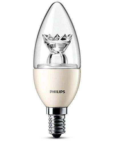 Philips Ampoule LED Flamme Compatible Variateur Culot E14 6 Watts Consommés Équivalence Incandescence 40W