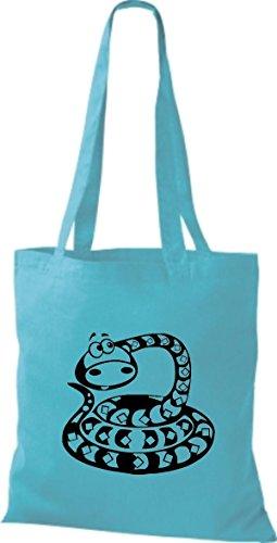 Shirtstown Stoffbeutel Tiere Schlange Snake Sky