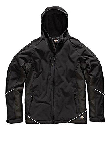 Dickies zweifarbige Softshell Jacke schwarz BK L, JW7010