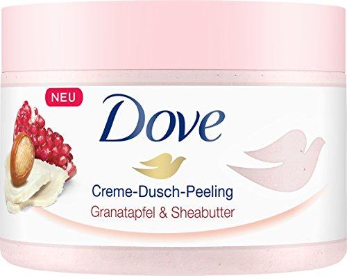 Dove Creme-Dusch-Peeling Granatapfel und Sheabutter, 4er Pack (4 x 225 ml)
