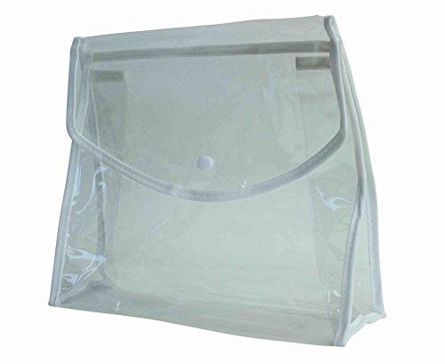 Bundle di chiaro pvc bag con clip magnetica per cosmetici e articoli da toeletta-6 articoli-accessorio da viaggio