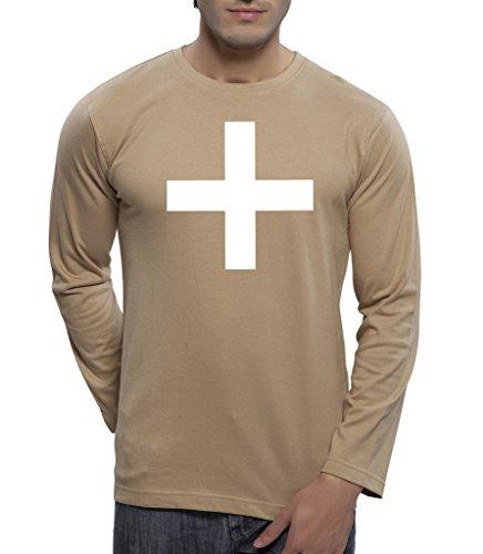 Clifton Mens Printed Full Sleeve R-Neck T-Shirt-WHITE PLUS-Saffari-XL