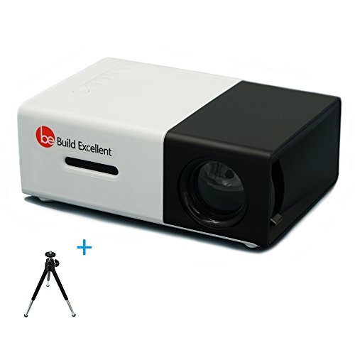 Build Excellent Vidéoprojecteur Portatif Pico Projecteur LED Mini Projecteur LCD Home Cinéma (YG300)