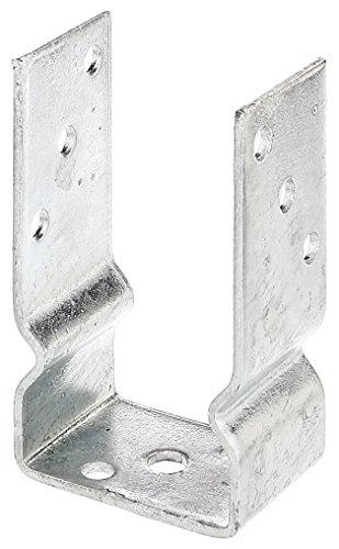 Galleria fotografica GAH-Alberts - Supporto metallico ad U da avvitare al palo di sostegno per recinzione, zincato a caldo 81 mm