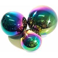 Set di 3Rainbow Gazing sfere in acciaio INOX 15cm, 20cm e 25cm