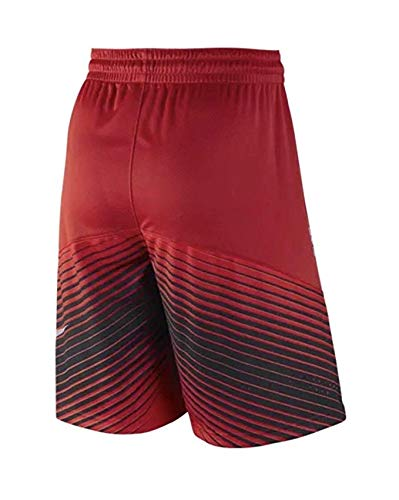 Nike Boys Elite Reveal Youth Basketball Shorts Red/Black (Small)
