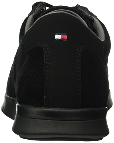 Tommy Hilfiger T2285obias 5b, Pompes à plateforme plate homme Noir (990)