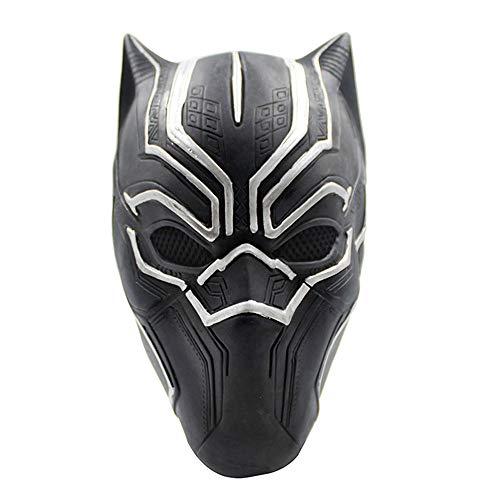 er Black Panther Maske Hero Kinder Cosplay Masken UK Halloween Karneval Cosplay Panther Schwarz Latex Cosplay Vollkopf Helmmaske - Universalgröße ()