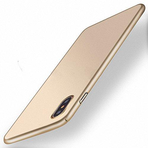 NAVT Xiaomi Mi Mix 2S Funda,Ultrafino Estructura Completamente rodeada la Estructura de Superficie Mate Durable PC Protector teléfono Funda para Xiaomi Mi Mix 2S Smartphone (Dorado)