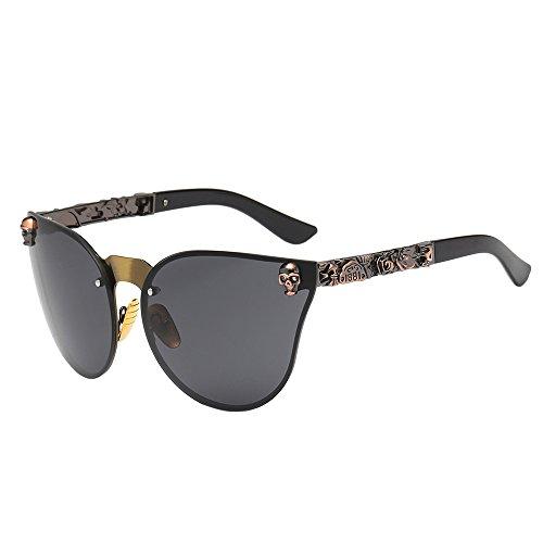 iCerber UV400 Mode Unisex Herren Rahmen Shades Acetat UV Brillen Sonnenbrillen Mode Cat Eye geschnitzte Sonnenbrille