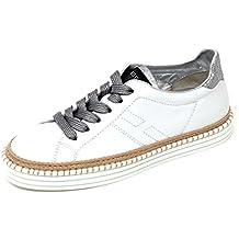 D0574 sneaker donna HOGAN REBEL R260 scarpa bianco shoe woman 30a20e13fdf