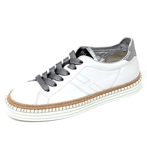 D0574 sneaker donna HOGAN REBEL R260 scarpa bianco shoe woman  35.5  60aa54e2c58