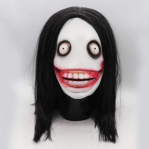 Killer Kostüm Jeff - qiumeixia1 Halloween Killer Jeff Mask Rollenspiel Adult Killer Horror Vollmasken für Halloween Cosplay Drama Games Partyzubehör