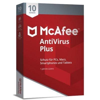 McAfee AntiVirus Plus 2018 Base license 10