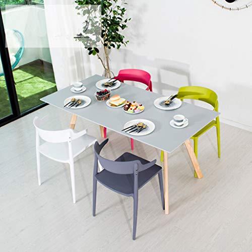 Sedie da pranzo Design moderno, Sedie da cucina Gambe robuste Materiale PP  di alta qualità, Sedie Sgabelli per sala da pranzo Cucina Soggiorno Camera  ...