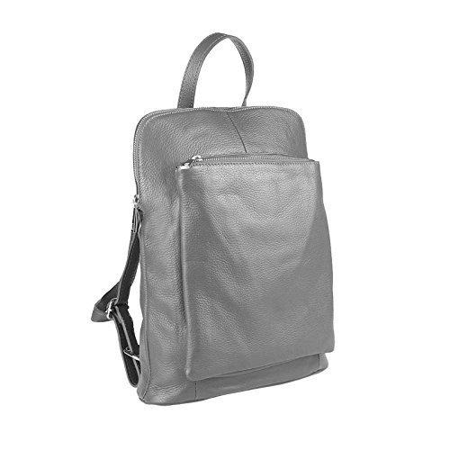 23b85451fc5503 OBC Made in Italy Damen echt Leder Rucksack Daypack Lederrucksack Tasche  Schultertasche Ledertasche Handgepäck Nappaleder (