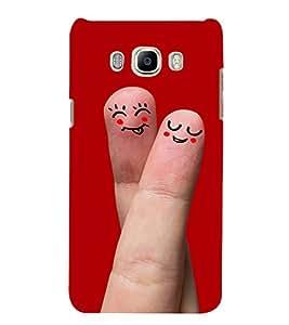 Smiley Finger Art Hard Polycarbonate Designer Back Case Cover for Samsung Galaxy J5 (6) 2016 :: Samsung Galaxy J5 2016 J510F :: Samsung Galaxy J5 2016 J510Fn J510G J510Y J510M :: Samsung Galaxy J5 Duos 2016
