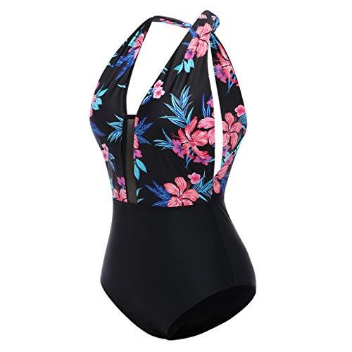 Cooljun Damen Damen Vintage Lace Bikini Sets Strand Badebekleidung Badeanzug Plus Größe Frauen Einteiliges Riemchen Bikini Print Rückenfrei Bademode Beachwear - Lace Plus Größe Bikini
