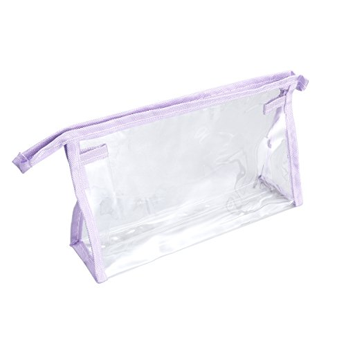OUNONA Sac de Maquillage Transparent Imperméable de PVC (Violet)