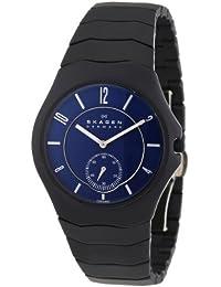 Skagen Herren-Armbanduhr XL Analog Quarz Keramik 815LBXNC