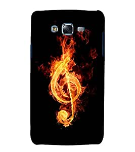 printtech Flaming Music Note Back Case Cover for Samsung Galaxy J2 / Samsung Galaxy J2 J200F