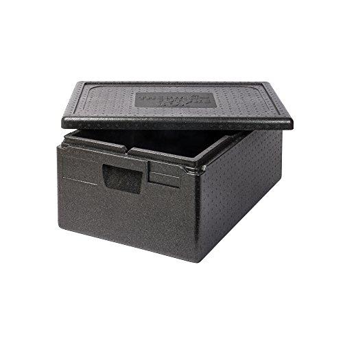 Thermo Future Box Box GN 1/1 Premium-217 mm Transport-und Isolierbox, EPP (expandiertes Polypropylen), Schwarz, 60 x 40 x 28 cm