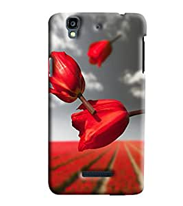 Blue Throat Red Lily Pattern Hard Plastic Printed Back Cover/Case For Micromax Yu Yureka