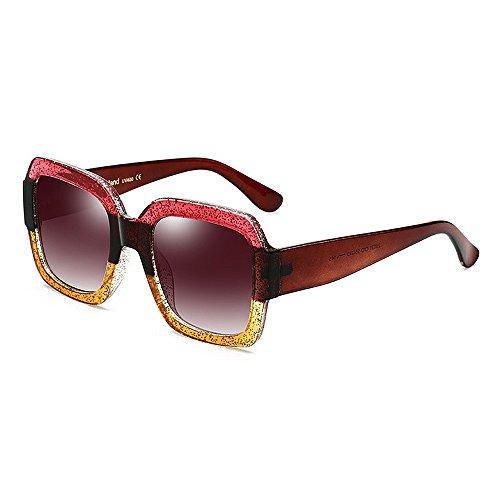 Peggy gu occhiali da sole quadrati oversize bicolore per occhiali da sole e protezione uv da uomo occhiali da sole cerchiati eleganti da unisex occhiali da sole big lady per la guida in viaggio
