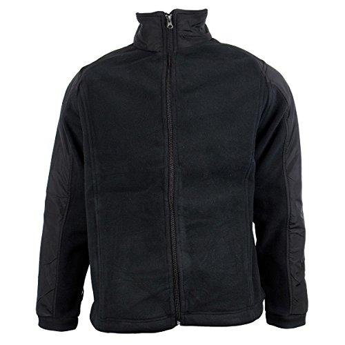Calda giacca da uomo con zip, in pile anti pelucchi, giacca invernale da lavoro chill delta (black) xxxx-large