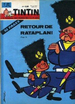 Tintin n° 699 - 1962 - couverture Berck