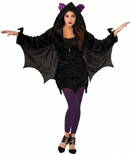Damen-Kostüm Sexy Hoodie Bat Vampir Fledermaus Halloween Gr. 34-38