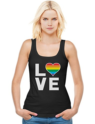 Gay Love - Rainbow Heart Gay & Lesbian Equal Rights Pride Women Vest Tank Top