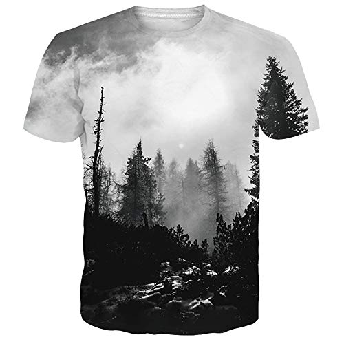 1589b7aa2 NEWISTAR Unisex 3D Animale Stampato Estate Casuale Manica Corta T Shirt  Tees L