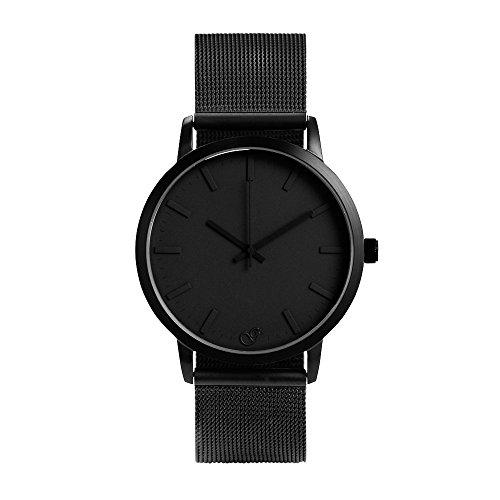 gaxs-watches-jamming-joe-mesh-bracciale-da-uomo-orologio-nero-con-mesh-braccialetto-in-acciaio-inox