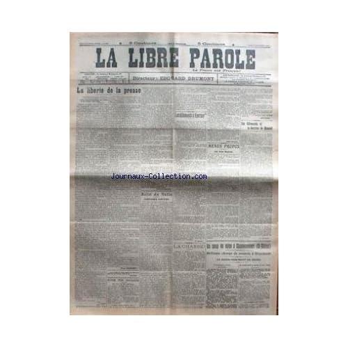 LIBRE PAROLE (LA) du 19/11/1914 - LA LIBERTE DE LA PRESSE - LES ALLEMANDS A EPERNAY - LES ALLEMANDS ET LA DOCTRINE DE MONROE - UN COUP DE MINE A CHAVONCOURT.