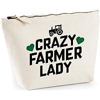 Hippowarehouse Crazy farmer lady printed make up cosmetic wash bag 18x19x9cm
