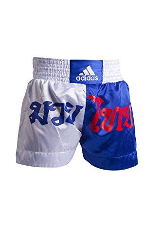 Adidas Pantalones de Boxeo Azul/Blanco S