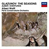 GLAZNOV: LES SAISONS/AUBER: OVERTURES by Albert Wolff / Paris Conservatory Orchestra...