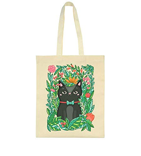 Very Beautiful Cat With A Bow Tie Sitting In The Nature Surrounded By Flowers Tote Bag -