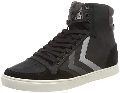 Hummel Unisex-Erwachsene Slimmer Stadil Duo Oiled HIGH Hohe Sneaker, Schwarz (Black 2001), 41 EU