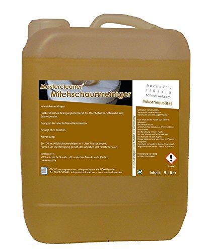 Master Cleaner Nettoyant pour mousse de lait lait Buses Nettoyant concentré pour porte-filtre, machines à café capsule et pad Machine 1L.