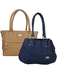 Fillincart Women Blue And Brown Colour PU Material Pack Of 2 Hand Bags