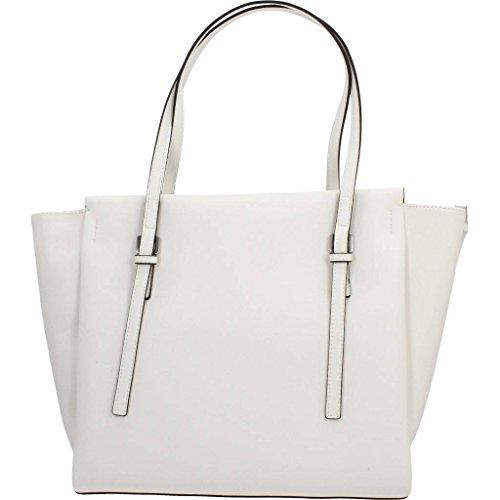 Sacs - Maroquinerie, couleur Blanc , marque CALVIN KLEIN, modÚle Sacs - Maroquinerie CALVIN KLEIN M4RISSA LARGE TOTE Blanc Blanc