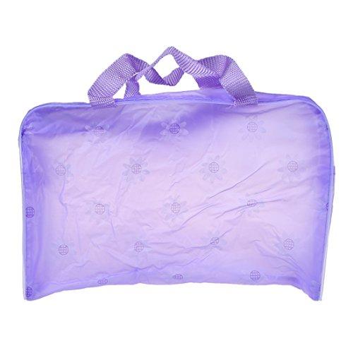 Lila Gaze (Timagebreze Blumendruck Transparente Wasserdichte Kosmetik Tasche Lila (Ohne Gaze))
