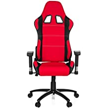 hjh OFFICE 729320 silla gaming GAME FORCE tejido negro / rojo silla de oficina reclinable silla