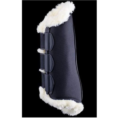 eQuick Dressur-Gamasche eKur Luxury Fluffy hinten Größe L, Farbe Schwarz