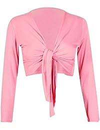 Mix lot de nouvelles dames à manches longues attacher boléro shrug femmes attacher cardigan envelopper taille supérieure 36-42