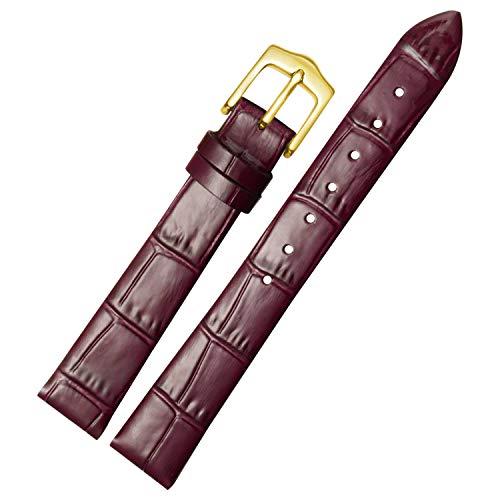 Lila-Uhr-Armband-Armband für Frauen Elegante Kalbsleder-Uhrenarmband Ersatz 13mm - Watchs Frauen Xoxo