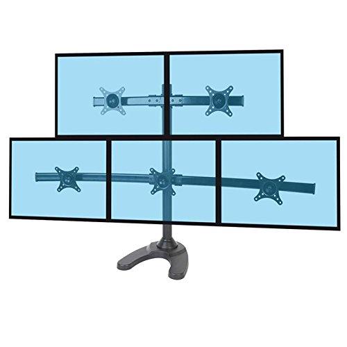 KIMEX 015-1257 Support de Bureau pour 5 écrans PC 13''-24\